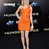 Her orange Atelier Versace minidress was a showstopper at the LA premiere of The Hunger Games.
