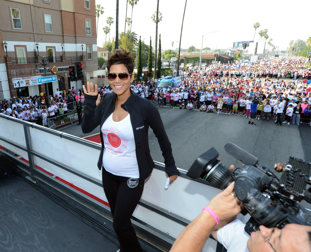 Halle Berry Brings Her Bump Out For Revlon's LA Race