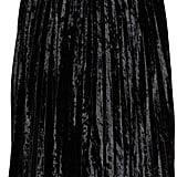 Glamorous Velvet Pleat Skirt