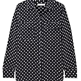 Equipment Slim Signature Polka Dot Washed Silk Shirt