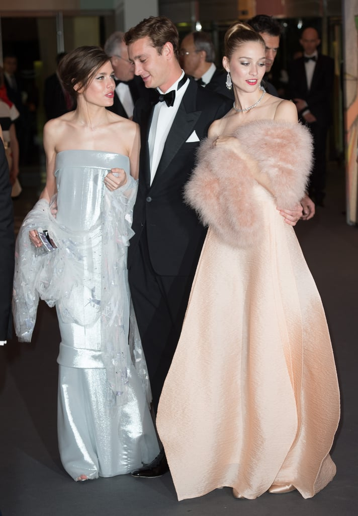 "Draped in silver Chanel couture, Monaco royal Charlotte Casiraghi looked like a new mom ready for some fun this weekend in Monte Carlo, where she let loose at the annual Rose Ball. The pretty young royal and granddaughter of Grace Kelly welcomed a baby boy, Raphael, last December with French comedian Gad Elmaleh. While Gad was away performing in Lyon, Charlotte was joined by other members of the royal family, including her brother, Pierre, and his equally glamorous girlfriend, Beatrice Borromeo, an Italian aristocrat and TV personality. Charlotte's uncle and Monaco's ruler, Prince Albert II, was also in attendance with his wife, Princess Charlene.  The ball is held each year to raise money for the Princess Grace Foundation, and the VIP crowd enjoyed a performance by Lebanese-British singer-songwriter Mika, who happens to have a hit called ""Grace Kelly."" ""I tried to be like Grace Kelly,"" the lyrics go. ""But all her looks were too sad."" On Saturday, however, Grace Kelly's family looked anything but sad! Check out the snaps below."