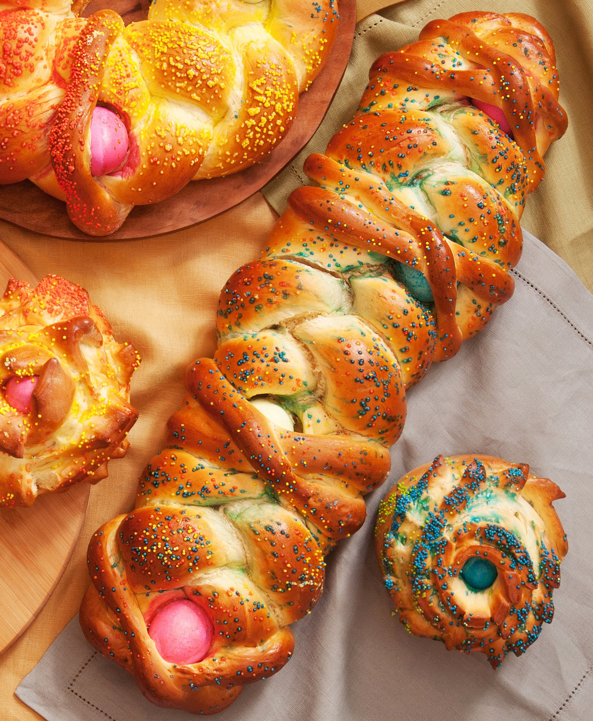 Easter Bread With Colored Eggs Popsugar Food