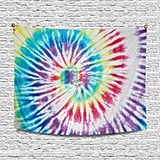 Interestprint Abstract Colourful Spiral Tie-Dye Wall Hanging