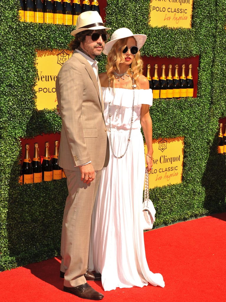 Rodger Berman and Rachel Zoe wore sun hats to the Veuve Clicquot Polo Classic.