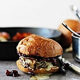 Taleggio Burgers With Spicy Pancetta and Pear and Blueberry Chutney
