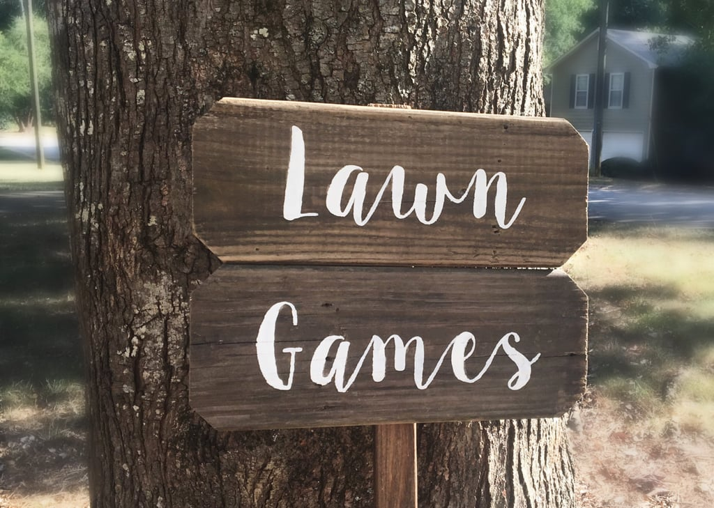 Lawn Games Sign