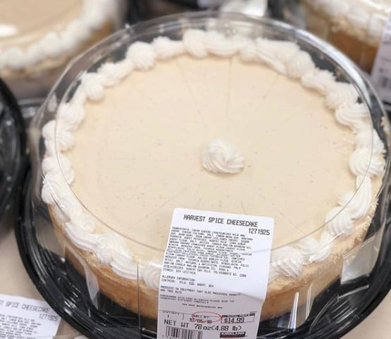 Costco 5 Pound Thanksgiving Cheesecake