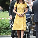 Kate Middleton Yellow Jenny Packham Dress in Germany