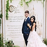 Celebrate your storybook romance with a fairy tale backdrop.
