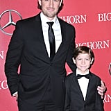 Jacob Tremblay brought his dad, Jason, to the Palm Springs Festival Awards.