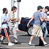 Leonardo DiCaprio grabbed lunch with friends.