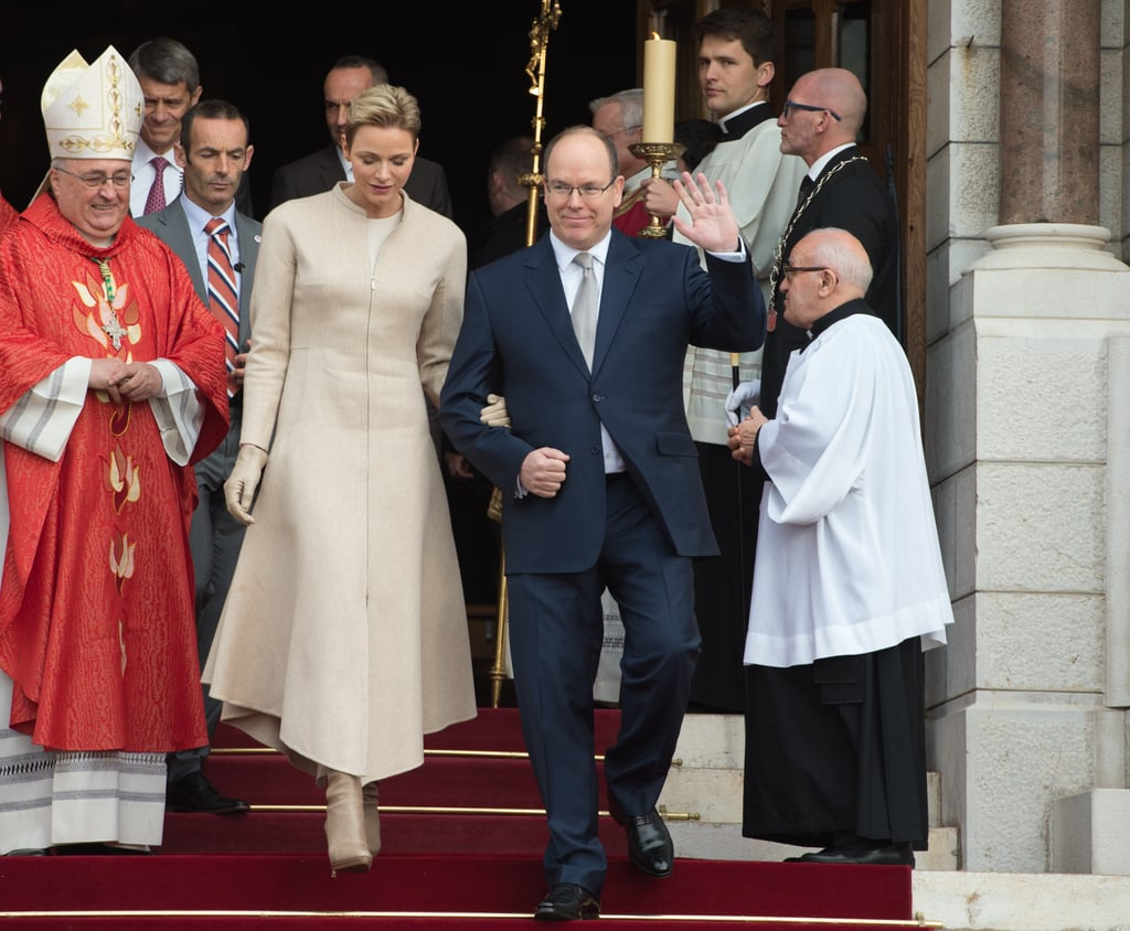 Prince Albert II and Princess Charlene Bring Their Adorable Twins to a Church Service