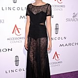 Agyness Deyn opted for a sheer dress.