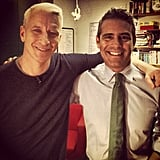 Anderson Cooper stopped by Watch What Happens Live to visit with his friend Andy Cohen.  Source: Instagram user bravoandy