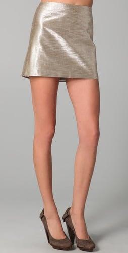 Alice + Olivia Myra Metallic Miniskirt ($198)