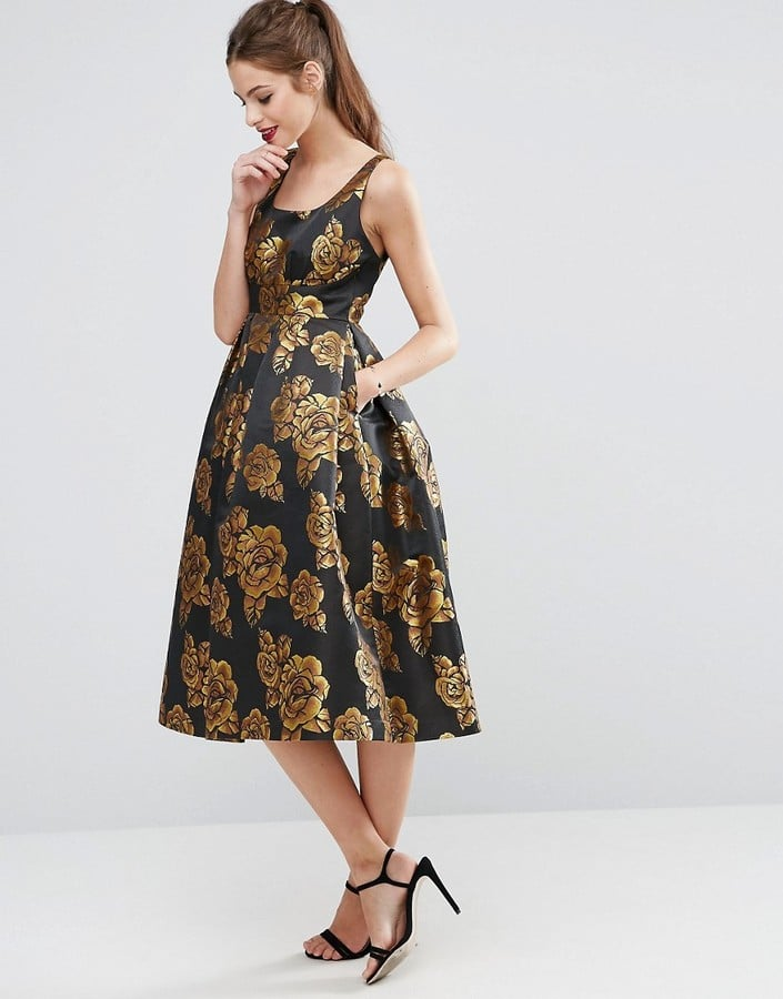 Asos Salon Beautiful Golden Rose Midi Prom Dress 120 Your