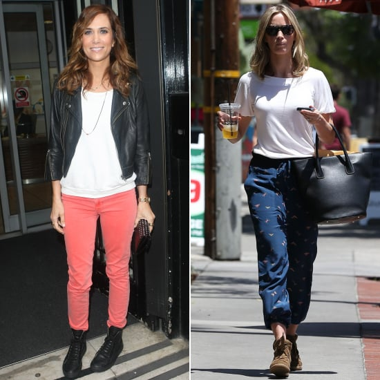Kristen Wiig and Emily Blunt Wearing Sneakers