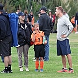 Reese Witherspoon chatted with other parents at her son Deacon's soccer game in LA.