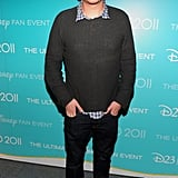 Jason Segel chatted with reporters backstage at D23.
