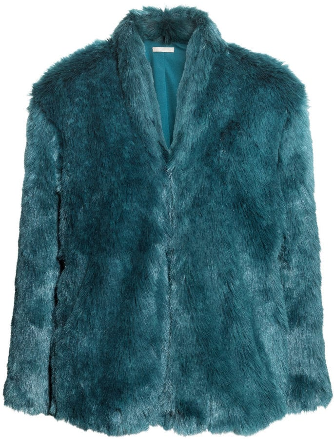 H Amp M Faux Fur Jacket In Teal 80 Faux Fur Jackets And