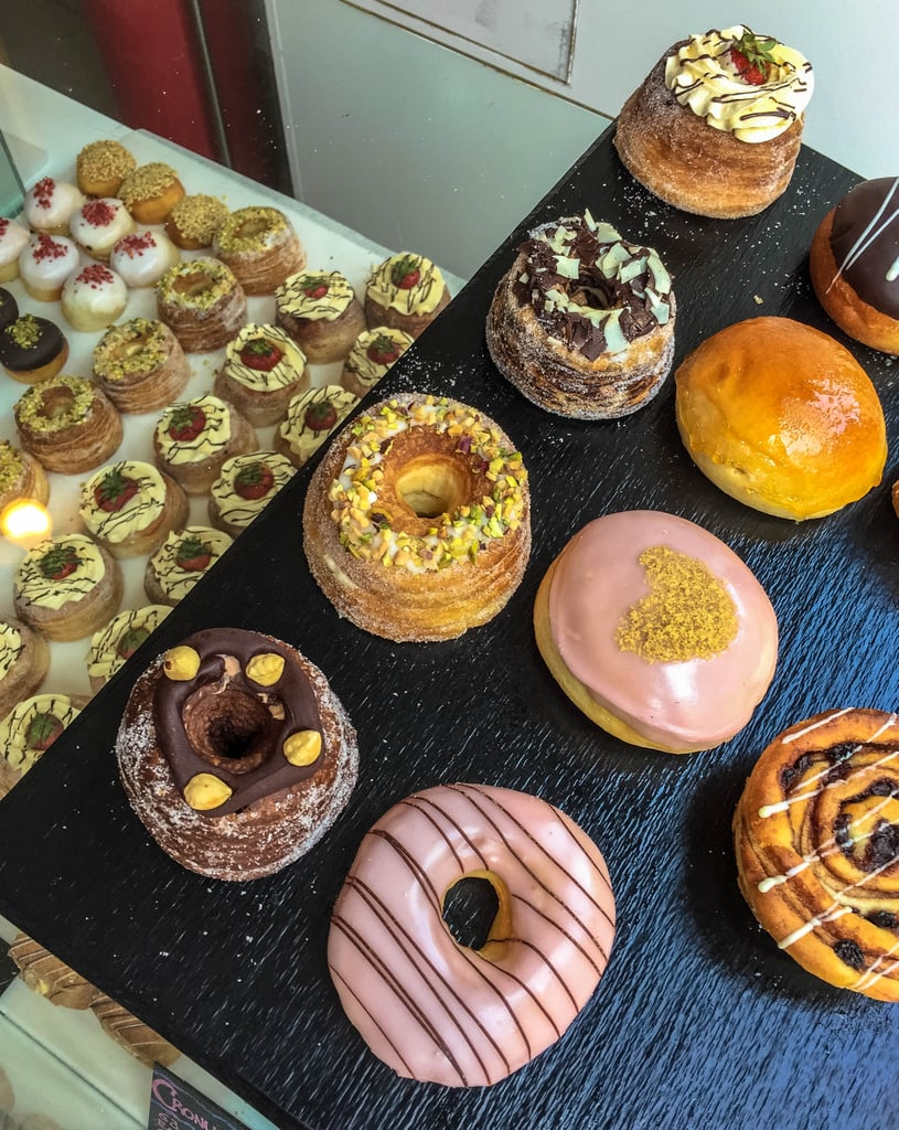 And don't worry if your stomach starts to growl after all the perusing around. There are plenty of restaurants, cafes, and pubs nestled among the shops and stalls. Doughnuts, Cronuts, cookies — you'll find them all here!
