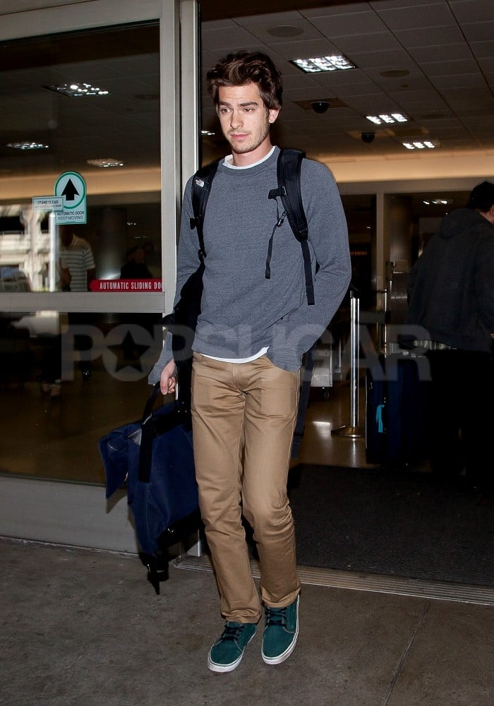 Andrew Garfield set down in LA.