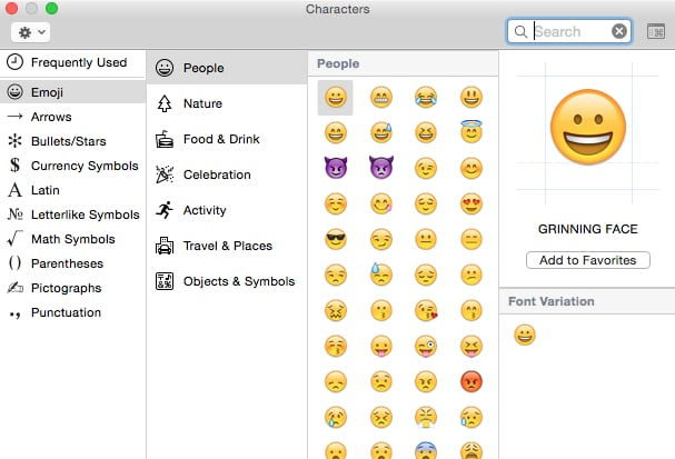 You can also easily use other symbols or emoji on your Mac