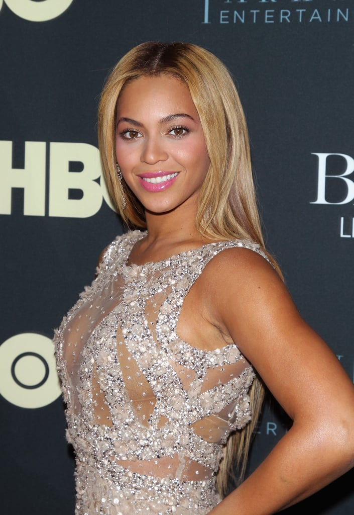 Beyoncé has been sporting a blond hair hue for a while now. She often styles it in tousled waves or blown-out smooth.
