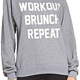 Private Party Women's Workout Brunch Repeat Sweatshirt