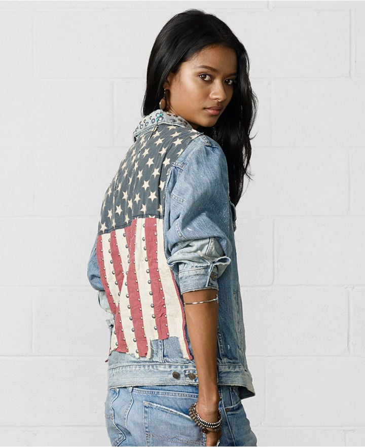 Ralph Lauren Denim & Supply American Flag Jean Jacket | American Flag  Clothing and Accessories | POPSUGAR Fashion Photo 4 - Ralph Lauren Denim & Supply American Flag Jean Jacket American