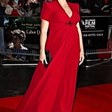Kate Winslet was ravishing in a bespoke Jenny Packham gown at the premiere of Labor Day in London, which she accessorized with diamonds from DeBeers.
