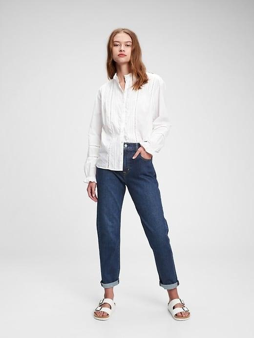 Gap Ruffle Lace Shirt
