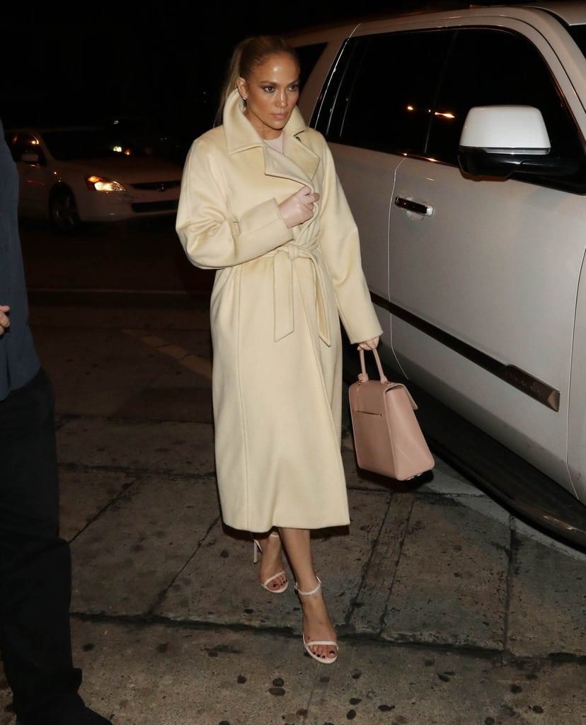 Jennifer Lopez Wearing Leather Gloves Popsugar Fashion