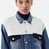 Calvin Klein Jeans Classic Denim Colorblock Trucker Jacket