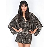 A playsuit in a cut kimono shape is a Summer-appropriate interpretation. Playsuit, approx $89, Ladakh at Singer 22