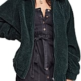 BDG Urban Outfitters Batwing Faux Shearling Jacket