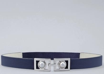 Faux Pearl Skinny Stretch Belt