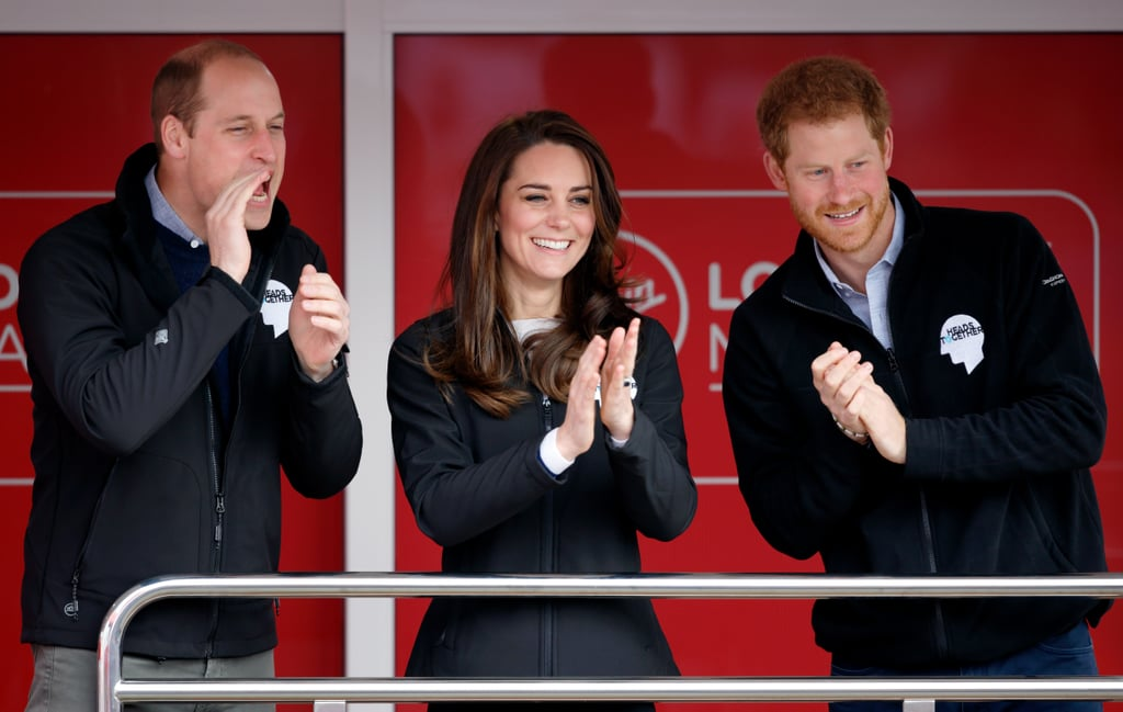 Harry, Kate, and William attended the the Money London Marathon.