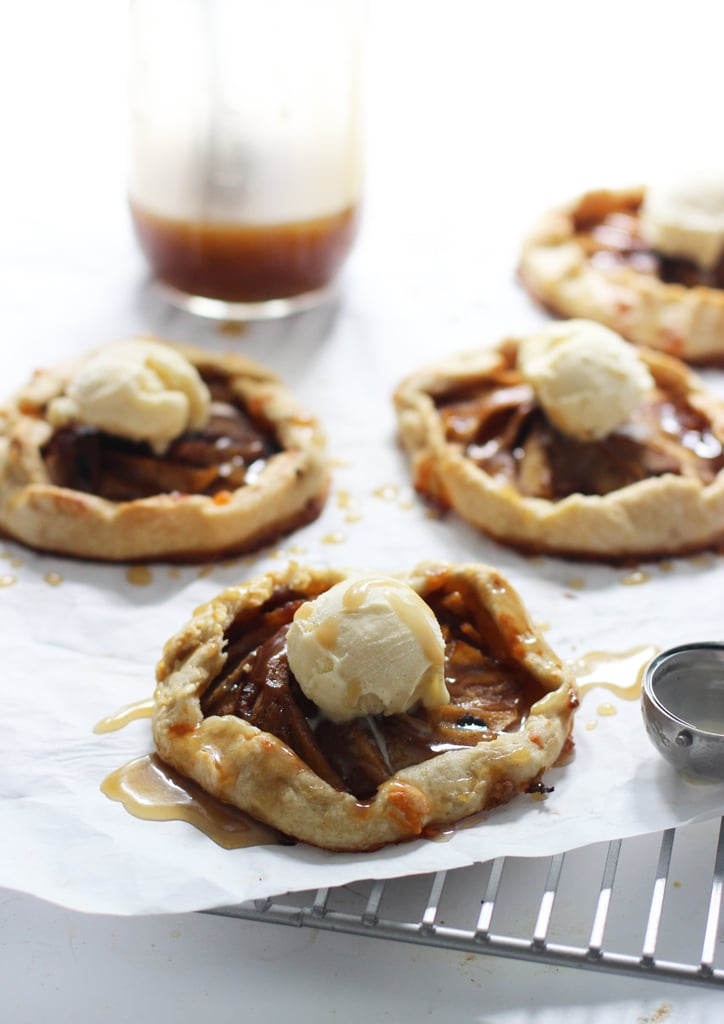 Apple Galettes With Caramel Sauce