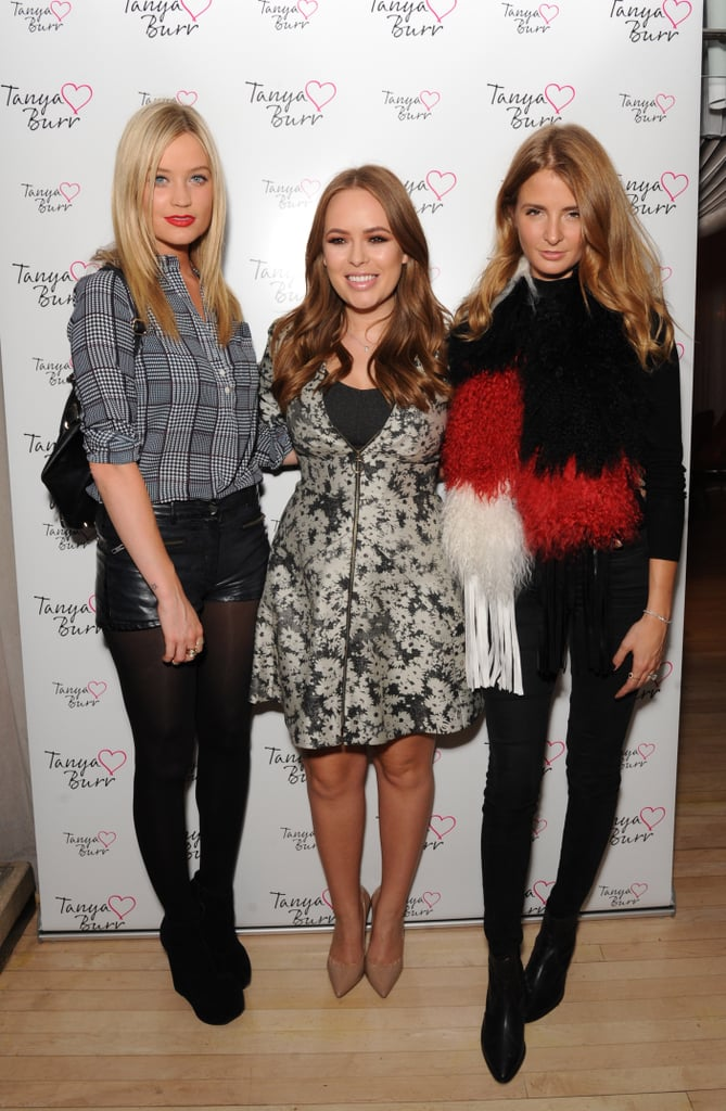 Laura Whitmore and Millie Mackintosh came out to celebrate Tanya Burr and the launch of her cosmetics line.