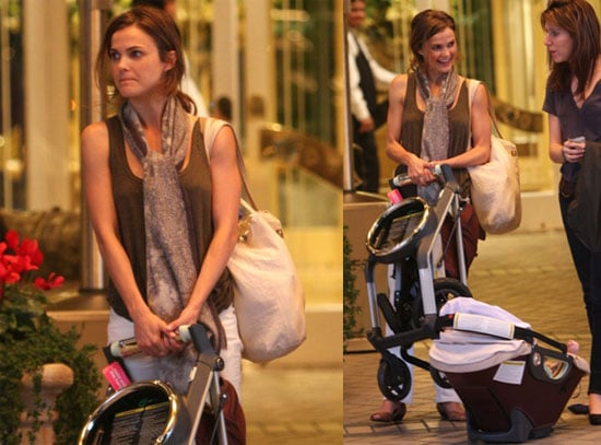 Keri Russell and River Russell Deary in Beverly Hills