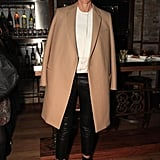 Sharp lines are always a smart investment, like this camel coat.