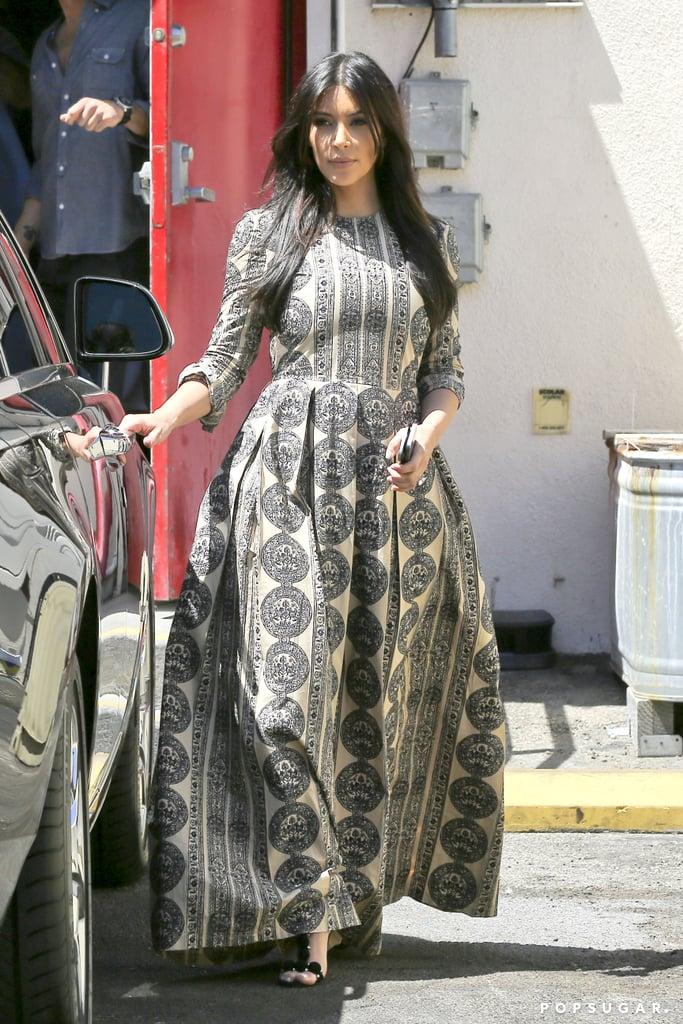 Kim Kardashian Gets Back in the Swing of Things