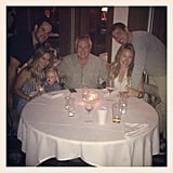 Luca Comrie celebrated his grandfather's birthday with the entire family. Source: Instagram user hilaryduff