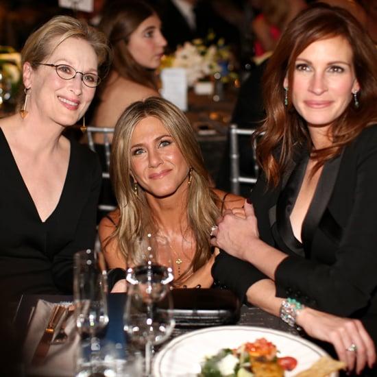 Jennifer Aniston and Meryl Streep at 2015 SAG Awards