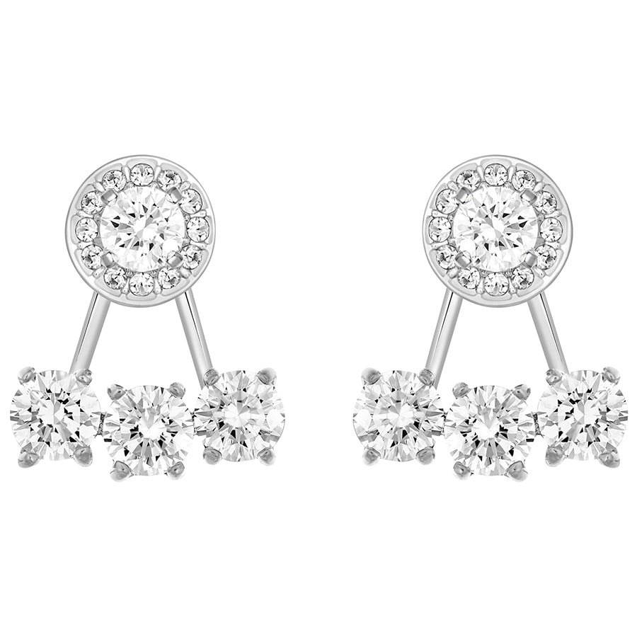 Swarovski Attract Light Round Pierced Earring Jackets ($99)