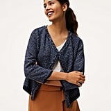 LOFT Fringe Knit Jacket