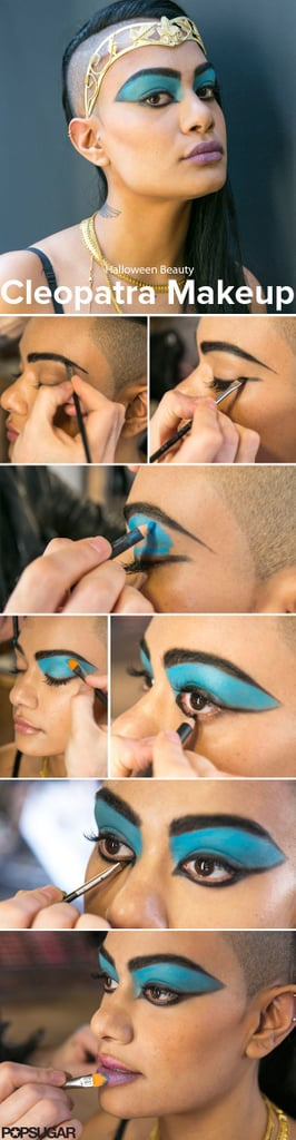 When you want to go for a glamorous Halloween costume, Cleopatra is an iconic beauty look that's all about the makeup. And our step-by-step tutorial went wild on Pinterest. Source: Caroline Voagen Nelson