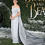 Emma wore a fairy tale-like Emilia Wickstead gown in 2017 to a Beauty and the Beast UK event.