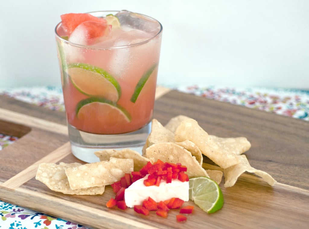 Lime-Spiked Watermelon Agua Fresca + Double Pepper Queso